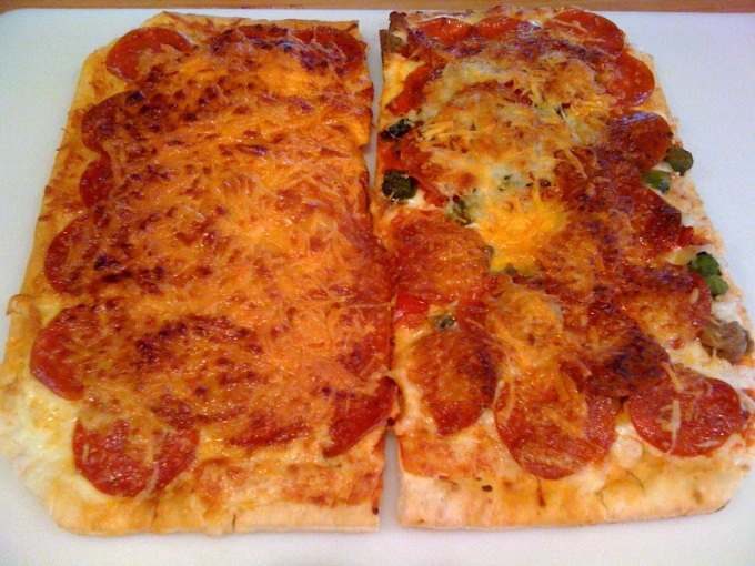 pizza halves done