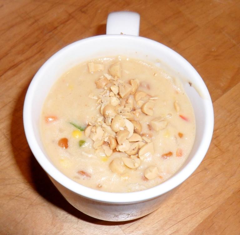 Spicy Peanut Chicken Noodle Soup.