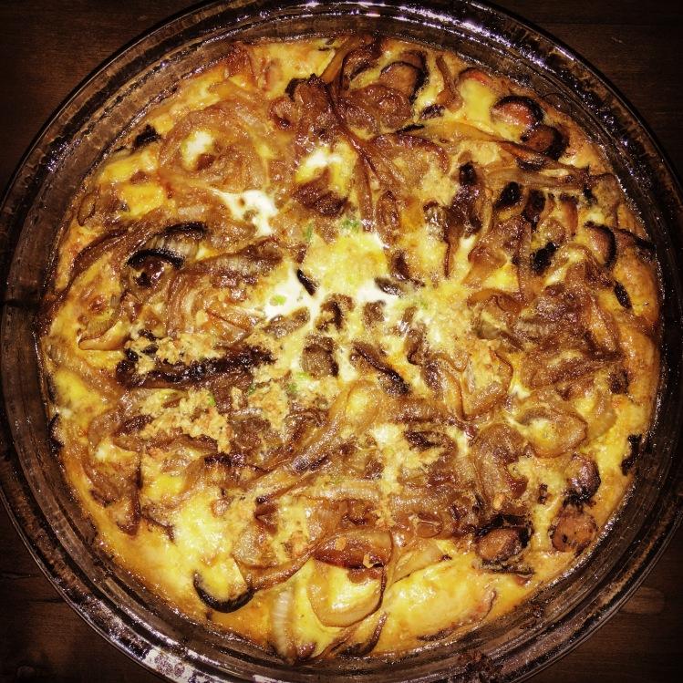Sausage, Sweet Potato and Caramelized Onion Frittata | Le Food Snob